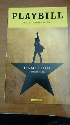Lin Manuel Miranda's Hamilton Broadway Theater Musical Oct 16 Playbill signed