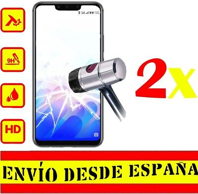 2x Protector Pantalla HUAWEI MATE 20 LITE Cristal Templado Protectores >2uds