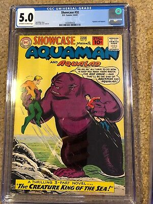 Showcase 32 CGC 5.0 And Showcase 33 CGC 6.0 Early Silver Age Aquaman Appearances
