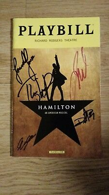 Lin Manuel Miranda's Hamilton Broadway Theater Musical Oct 16 Playbill signed 5
