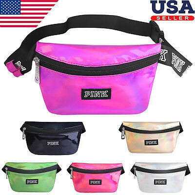 Womens Fanny Pack Shiny Leather Pouch Belt Waist Bum Bag Waist Phone Pocket