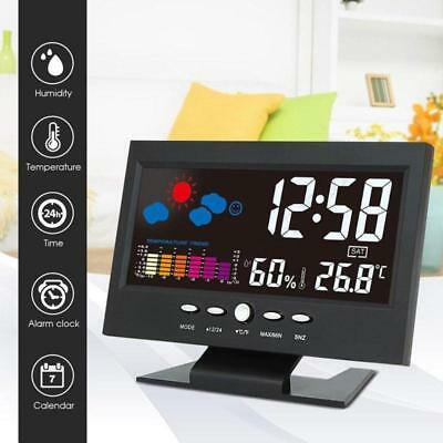Digital Wireless USB Backlit Weather Station Thermometer Hygrometer Alarm Clock