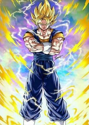 Hot Art silk Poster Super All Forms Dragon Goku Japan Anime L-W 12x18 24x36in