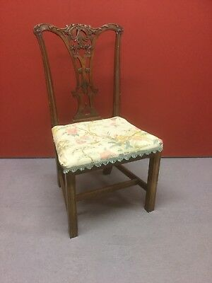Antique Georgian Chippendale Style Chair Sn-591