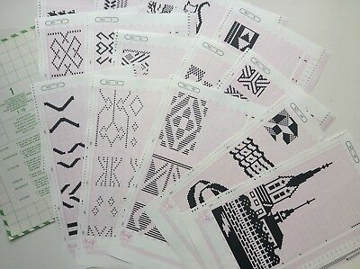Mylar Sheets Full Set 14 Pieces For Knitmaster Knitting Machines