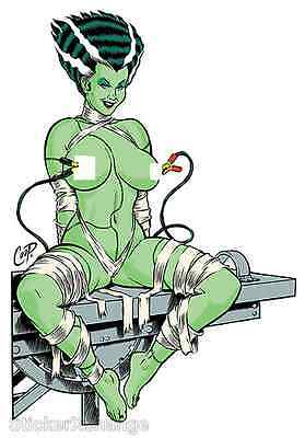 Electrified Bride STICKER Decal Poster Artist Coop CP45 Frankenstein LARGE SIZE