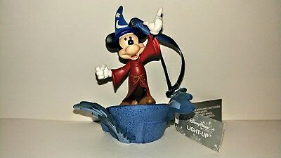 Disney Parks Mickey Mouse Sorcerer Fantasia Light Up Christmas Ornament *NEW*