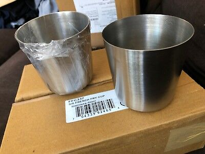 Lot Of 35 American Metalcraft FFC337 Stainless Steel Fry Cup w/ Satin Finish New