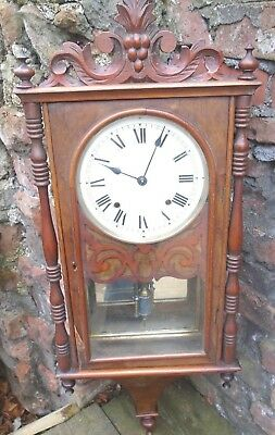 Attractive,antique Walnut   Wall Clock