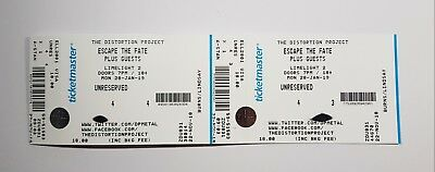 2 x Escape the Fate Tickets / Belfast / 28th Jan 2019 / Limelight