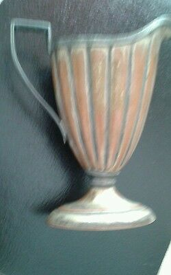 Vintage Barbour Silver Co Pedestal Fluted Pitcher /Creamer With Pictorial Marks