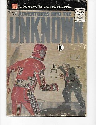 Adventures into the Unknown!  #110 ( VG  4.0) Aug-1959,  ACG