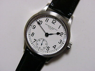 w3 42mm Custom Made Hand Brushed Marine Chronometer - C.O.S.C. Swiss ETA 6498-2