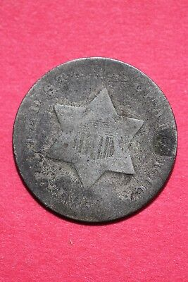 Low Grade No Date Seated Liberty Trime 3 Cent Silver Flat Rate Shipping OCE 015