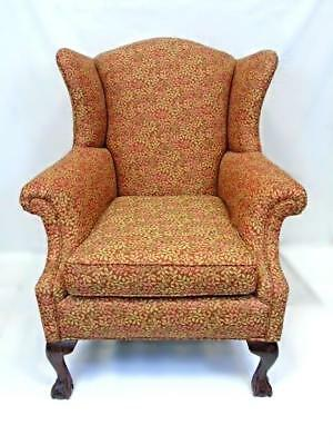 Fine Jeffrey Bilhuber Mahogany Chippendale Style Wing Chair Armchair Dining Side