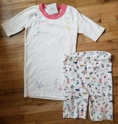 be125d6215 NWT Hanna Andersson PINK FAIRY TALE MAGIC ORGANIC Pajamas Short Johns 150 12