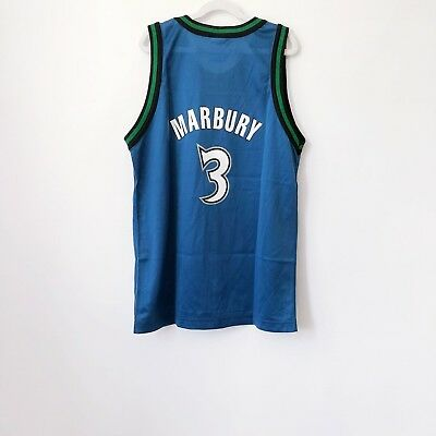 vintage stephon marbury minnesota timberwolves champion jersey youth size  large 638814d07