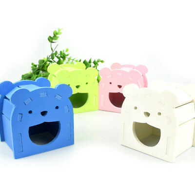 Pet Hamster Wooden Mouse Villa Cage House Small Animal Rat Nest Toy House 1#~6#