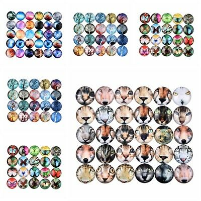10Pcs/Set Glass Dome Cabochon DIY Accessories Dome Flatback Jewerly Findings 2cm