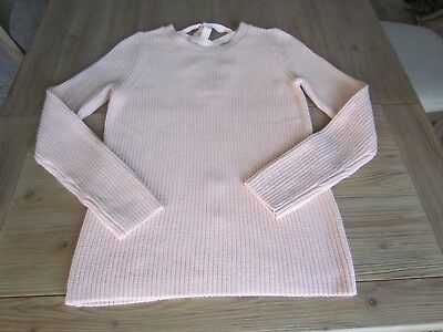 NWT Banana Republic Women s Size Medium M Peach Ribbed Lace-Up Sweater 48226 5390126e9