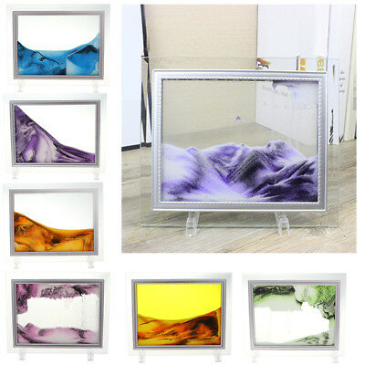 Dynamic Vision Sand Glass Painting Moving Scenery Art Hourglass Table Wall Decor