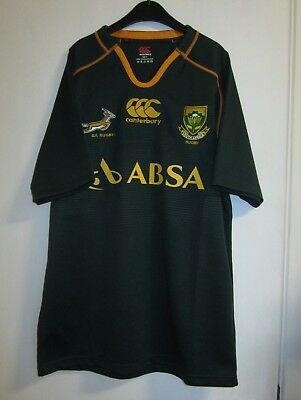 South Africa Springboks Canterbury 2013 Home + Away Jersey NWOT Size M No Test