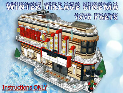 Lego Winter Village Cinema -INSTRUCTIONS ONLY- fit 10216 10222 10249 10199 etc
