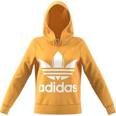 reputable site 69b58 a2f43 40) adidas Trefoil He, Felpa Donna, Chalk Orange, 40