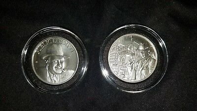 """2oz Silver High Relief Round - """"Public Enemy #1"""" Alphonse Capone AntiqueJewelry"""