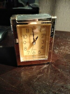 Vintage Seiko Brass Mantle Clock Westminster Whittington PARTS
