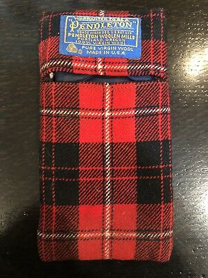 Vintage Pendleton Wool Plaid Soft Eyeglass Sunglass Case Made In the USA