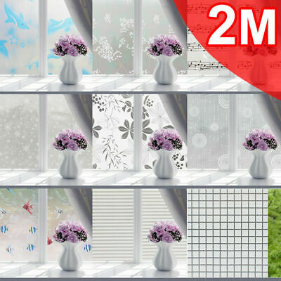Sand Blast Clear Privacy Frosted Frosting Windows Glass Film Removable