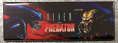 Alien Vs Predator Arcade Game Marquee Fridge Magnet