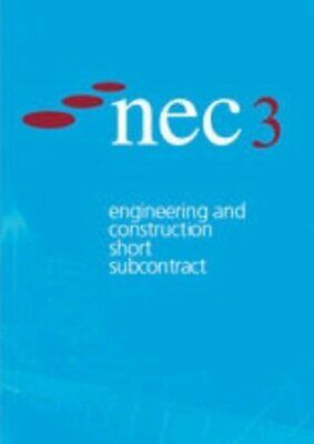 Nec3 Engineering and Construction Short Subcontract by NEC Paperback Book The