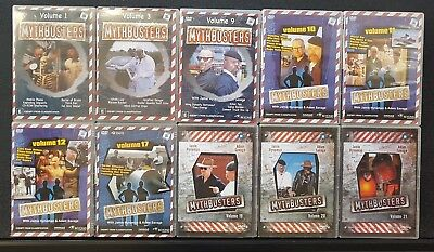 REDUCED - Bulk lot 10x MYTHBUSTERS DVDs. Some not viewed. FREE POST