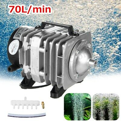 45W Electromagnetic Air Pump Oxygen Aquarium Fish Koi Pond Compressor