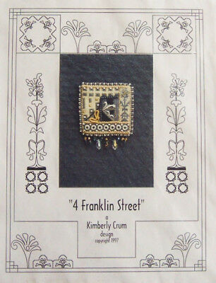 """4 FRANKLIN STREET"" Needlepoint Pin PATTERN by Kimberly Crum (1997) - New!"