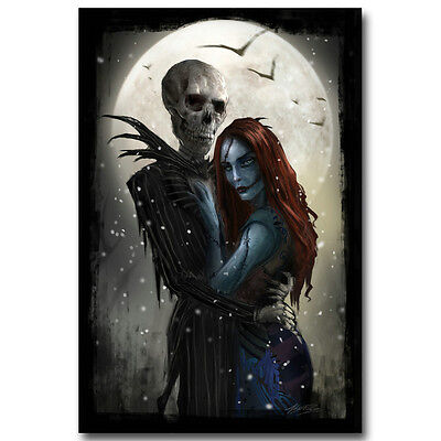JACK AND SALLY COUPLE POSTER 22x34 MOVIE 16634 NIGHTMARE BEFORE CHRISTMAS