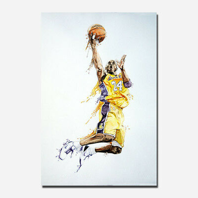 Kobe Bryant Basketball Sport Silk Canvas Poster 13x20 24x36''