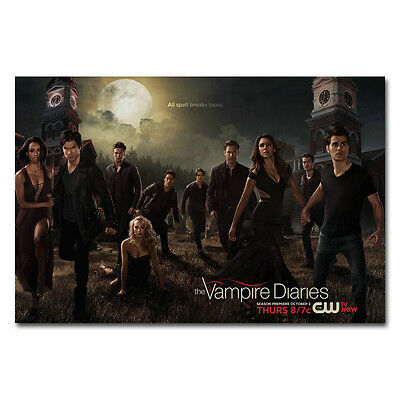 Hot Movie TV Shows - The Vampire Diaries TV Art Silk Poster 13x20 24x36inch