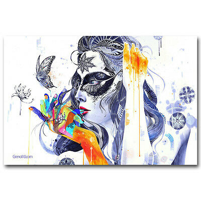 P186 Art Decor Astronaut Space Psychedelic Trippy Colorful Abstract Silk Poster