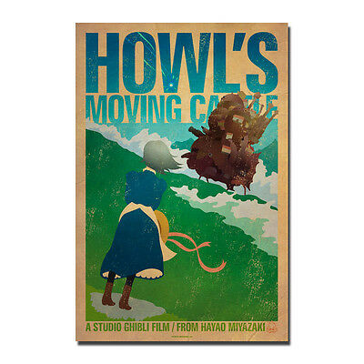 Howl/'s Moving Castle Anime Movie Vintage Art Silk Poster 13x20 24x36 inch J712