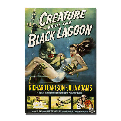 Creature From The Black Lagoon Hot Movie Silk Canvas Poster 13x20 24x36 inch