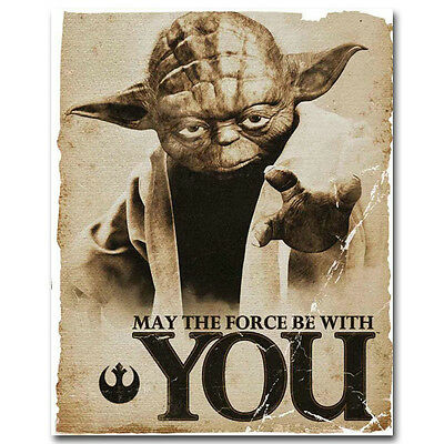 Master Yoda - Star Wars Movie Vintage Silk Poster 13x16inch