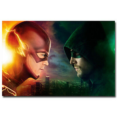The Flash And Arrow TV Series Art Silk Wall Poster 13x20 inch 002