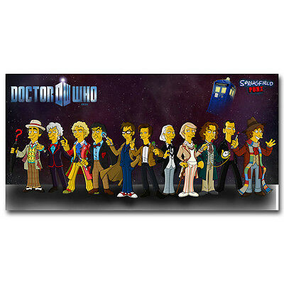 Doctor Who New TV Series Silk Poster 12 Doctors 12x18inch
