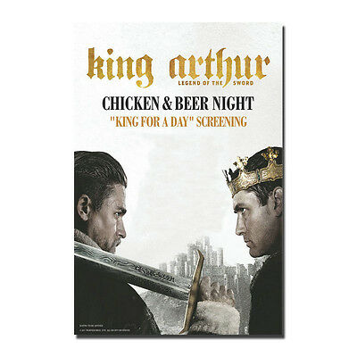 King Arthur Legend of the Sword Hot Movie Art Silk Poster 13x20 32x48 inch J780
