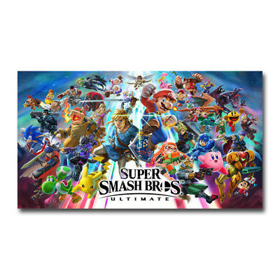 Super Smash Bros Ultimate Video Game Art Silk Canvas Poster 13x24 32x57 inch