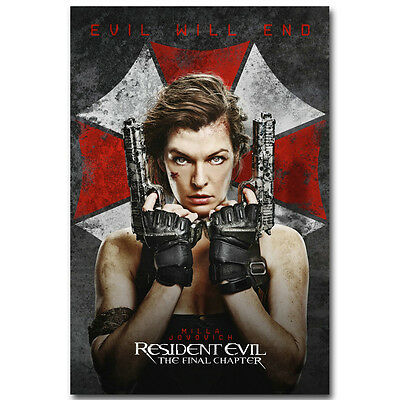 Resident Evil The Final Chapter Movie Silk Poster 13x20 24x36 inch