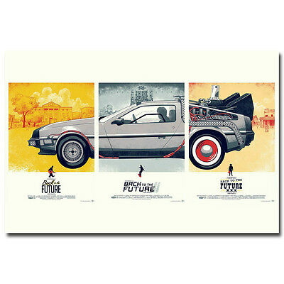 Back To The Future 1 2 3 Movie Art Silk Poster Print 13x20 inch Home Wall Decor